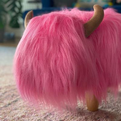 Pink the Highland Cow Footstool image 2