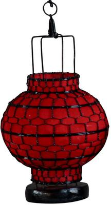 Wire and Canvas Lantern - Red Ball image 2