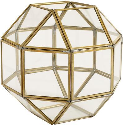 Polyhedron Lantern Metal and Glass