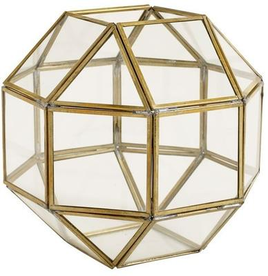 Polyhedron Lantern Metal and Glass image 2