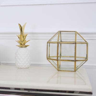 Polyhedron Lantern Metal and Glass image 3