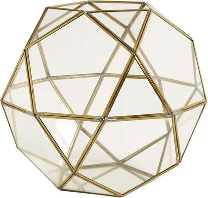 Large Polyhedron Lantern Metal and Glass image 2