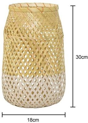 Bloomingville Glass and Rattan Lantern - Natural with Kit image 2