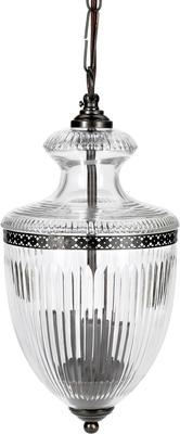 Grooved Glass Hanging Lamp Antique Style