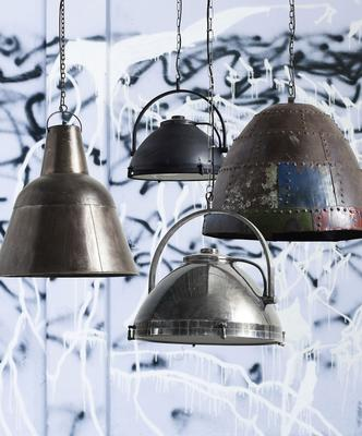 Large Copper Hanging Lamp Industrial-Style image 3