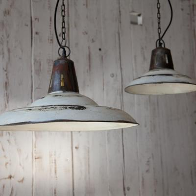 Industrial Hanging Lamp in White