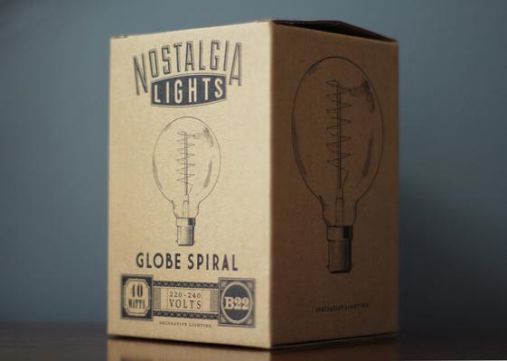 Nostalgia Lights Globe Spiral light bulb - 95mm. 40w. 300hrs image 3