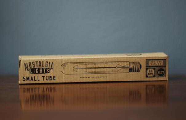 Nostalgia Lights Small Tube light bulb - 185mm. 40w. 300hrs image 3
