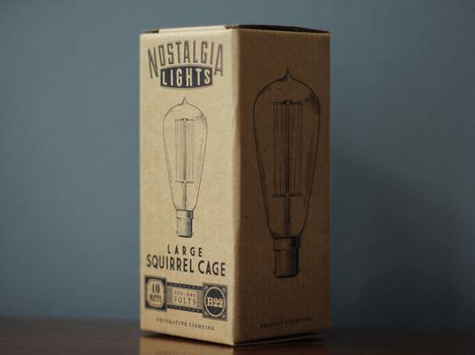 Nostalgia Lights Large Squirrel Cage light bulb BAYONET- 64mm. 40w. 300hrs image 3
