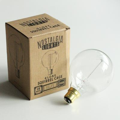 Nostalgia Lights Globe Squirrel Cage light bulb BAYONET image 2