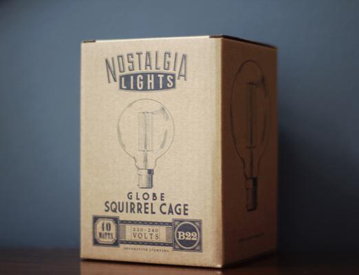 Nostalgia Lights Globe Squirrel Cage light bulb BAYONET image 3