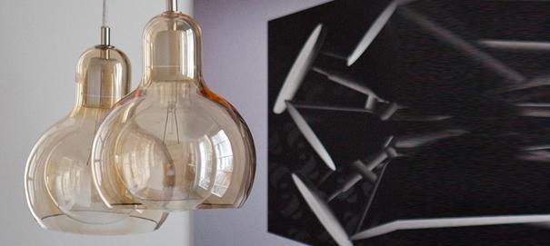 Sofie Refer Gold Mega Bulb Light With White Flex