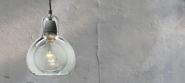Sofie Refer Silver Mega Bulb Light With Grey Flex