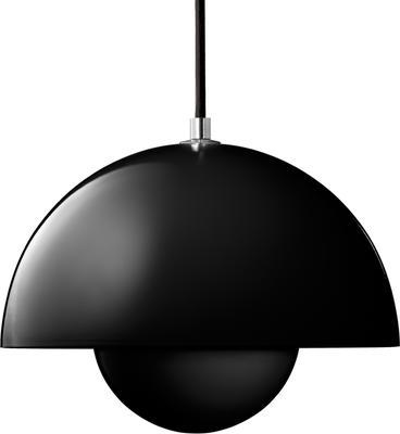 Panton Flower Pot Pendant - Black