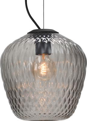 Blown Glass Lamp Silver
