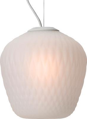 Blown Glass Lamp White