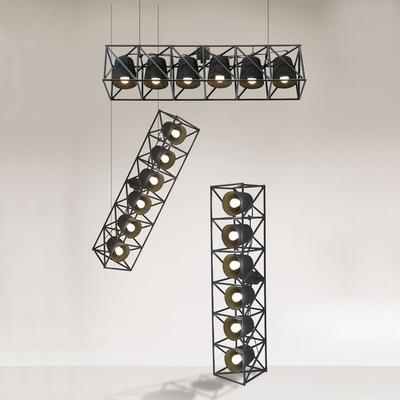 Hanging Lamp Array with 6 Lights