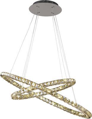 Double Circle Sparkle Pendant Lamp