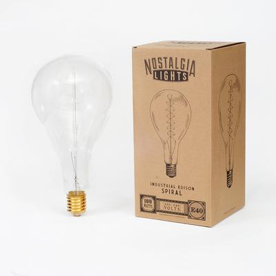 Nostalgia Lights Industrial Spiral. E40 - Adapter Included