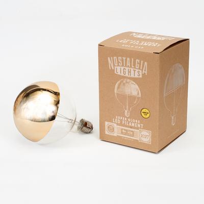 Nostalgia Lights Super Globe LED. Gold Cap image 3