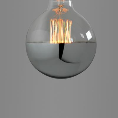 Nostalgia Lights Super Globe Squirrel Cage. Silver Cap