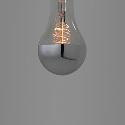 Nostalgia Lights Large Edison Spiral. Silver Cap image 2