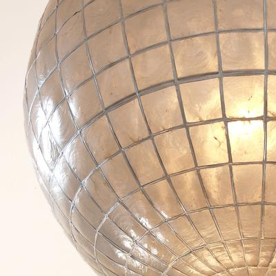 Shell Globe Hanging Lamp Mother-of-Pearl image 5