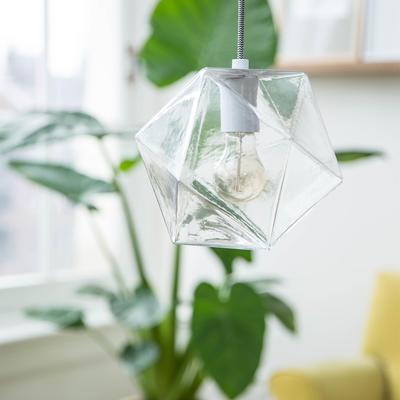 Geometric Hanging Lamp Clear Glass
