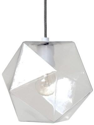 Geometric Hanging Lamp Clear Glass image 2