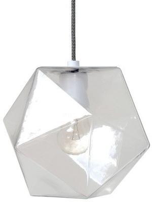 Geometric Hanging Lamp Clear Glass image 2
