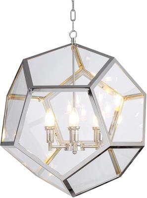 Geometric Hanging Lamp Clear Glass image 6