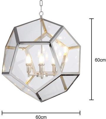Geometric Hanging Lamp Clear Glass image 7