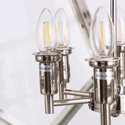 Geometric Hanging Lamp Clear Glass image 8