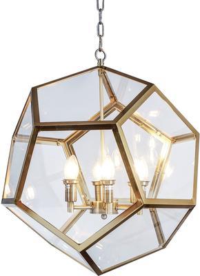 Geometric Hanging Lamp Clear Glass image 10