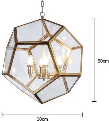 Geometric Hanging Lamp Clear Glass image 11