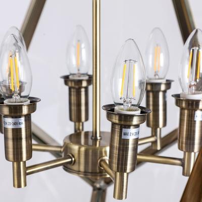 Geometric Hanging Lamp Clear Glass image 12