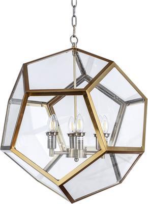 Geometric Hanging Lamp Clear Glass image 13