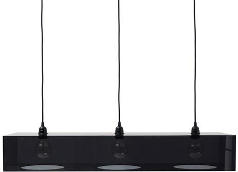 Plexiglass Black Triple Hanging Lamp for Breakfast Bar image 2
