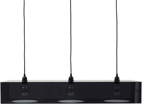 Plexiglass Black Triple Hanging Lamp for Breakfast Bar image 3