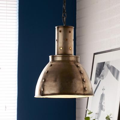 Round Galvanised Industrial Tagari Lamp