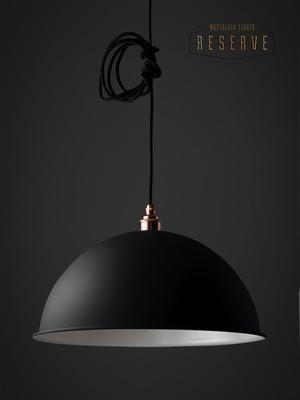 NL Reserve Pendant Shade SET Matte Black - Canopy Lamp