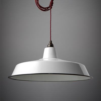 Nostalgia Lights Enamel Pendant Shade SET White - Classic Lamp