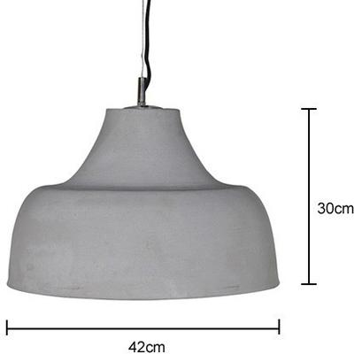 Cement Contemporary Hanging Lamp image 2