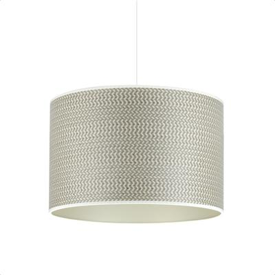 Herringbone grey drum shade