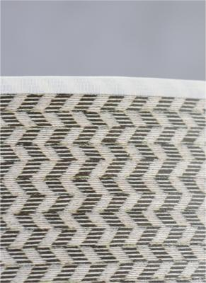 Herringbone grey drum shade image 2