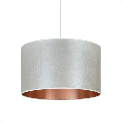 Pearl grey copper drum shade