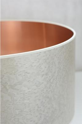 Pearl grey copper drum shade image 2