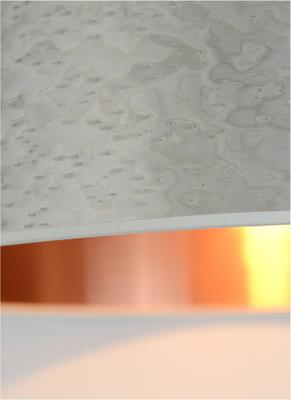 Pearl grey copper drum shade image 3