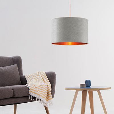 Pearl grey copper drum shade image 4