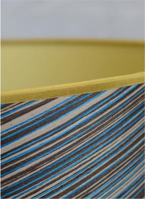 Blue stripe veneered cone shade image 2